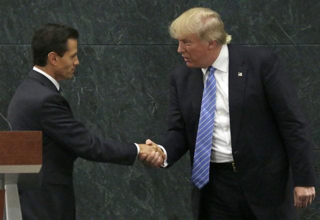 Enrique Pena Nieto, Donald Trump