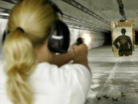 woman at shooting-range AP