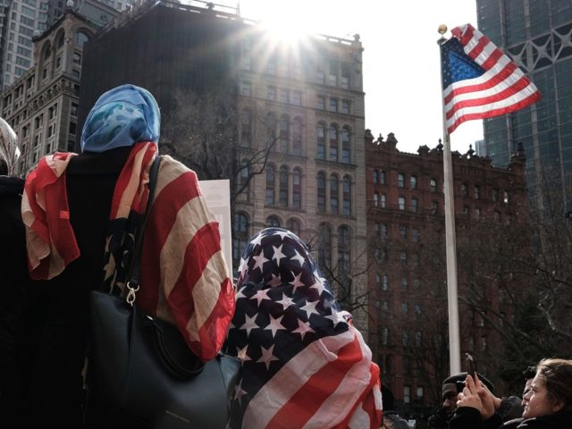 American flag hijabs (Spencer Platt / Getty)