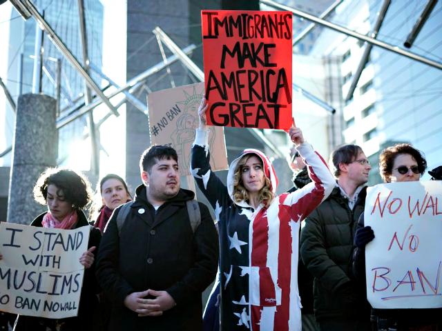 Anti-Ban Protest-AP