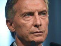 Argentine President Mauricio Macri offers a press conference at the Casa Rosada presidential palace in Buenos Aires on January 17, 2017. While the IMF lowered its growth expectations for Argentina, President Mauricio Macri reiterated that he expects the third largest economy in Latin America to grow by 3% in 2017. …