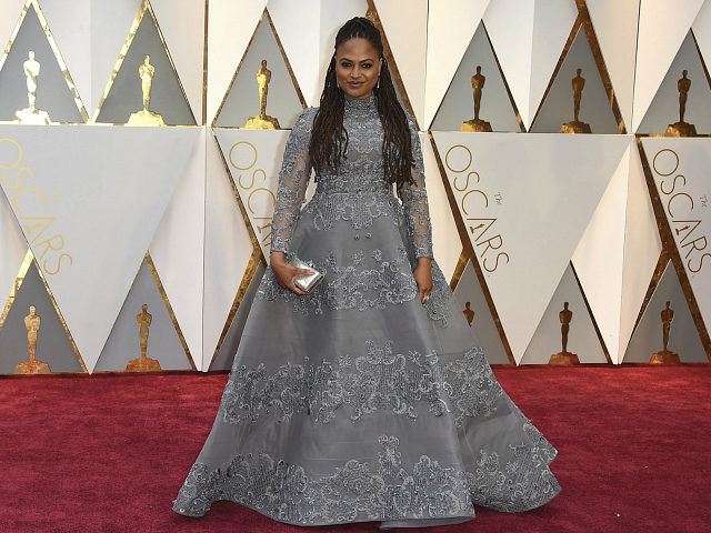 Ava DuVernay arrives at the Oscars on Sunday, Feb. 26, 2017, at the Dolby Theatre in Los Angeles. (Photo by Jordan Strauss/Invision/AP)