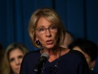 Education Secretary Betsy DeVos addresses the department staff at the Department of Education on Wednesday, Feb. 8, 2017 in Washington. (AP Photo/Molly Riley)