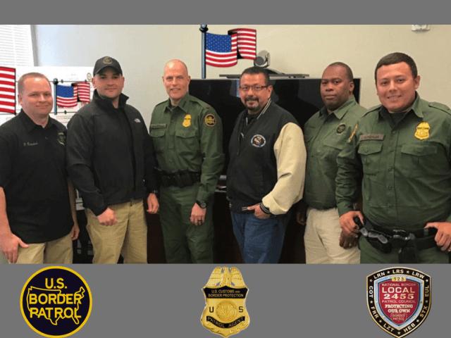 Border Patrol Agents with Chief Vitiello