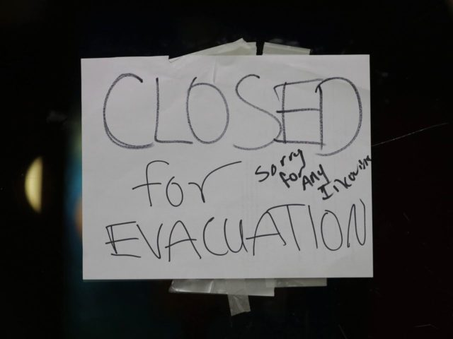 Closed for evacuation (Rich Pedroncelli / Associated Press)