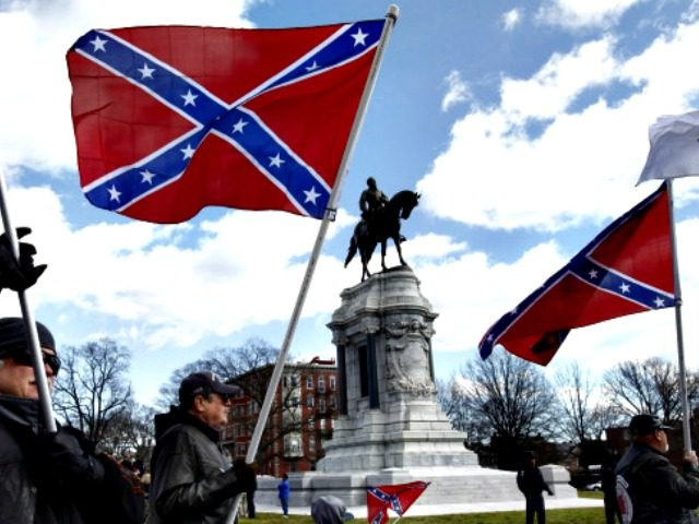 Confederate statue, flags AP