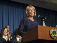 DeVos Addresses Staff-AP