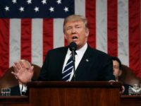 US President Donald J. Trump delivers his first address to a joint session of Congress from the floor of the House of Representatives in Washington, DC, USA, 28 February 2017. Traditionally the first address to a joint session of Congress by a newly-elected president is not referred to as a …