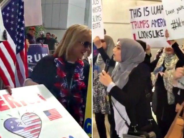 Dueling Demonstrators LAX