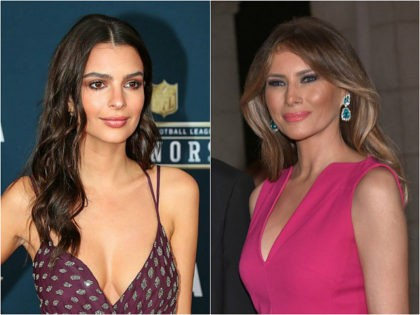 Emily Ratajkowski and Melania Trump
