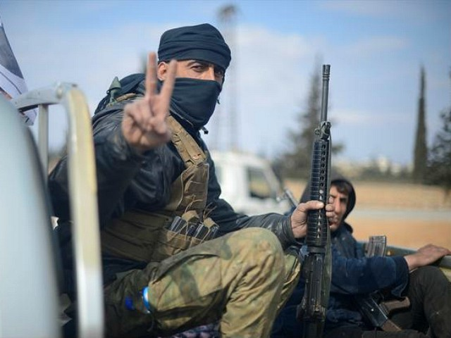 ALEPPO, SYRIA - FEBRUARY 13: Free Syrian Army (FSA) members fight against Daesh terrorists in al-Bab town of Aleppo during the 'Operation Euphrates Shield' in Aleppo, Syria on February 13, 2017. The Turkish-led Operation Euphrates Shield began in late August to improve security, support coalition forces, and eliminate the terror threat along the Turkish border using FSA fighters backed by Turkish artillery and jets. (Photo by Huseyin Nasir/Anadolu Agency/Getty Images)