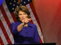 U.S. Sen. Lisa Murkowski, R-Alaska, gestures before a public television debate on Thursday, Nov. 3, 2016, in Anchorage, Alaska. She faces three challengers in Tuesday's general election. (AP Photo/Mark Thiessen)