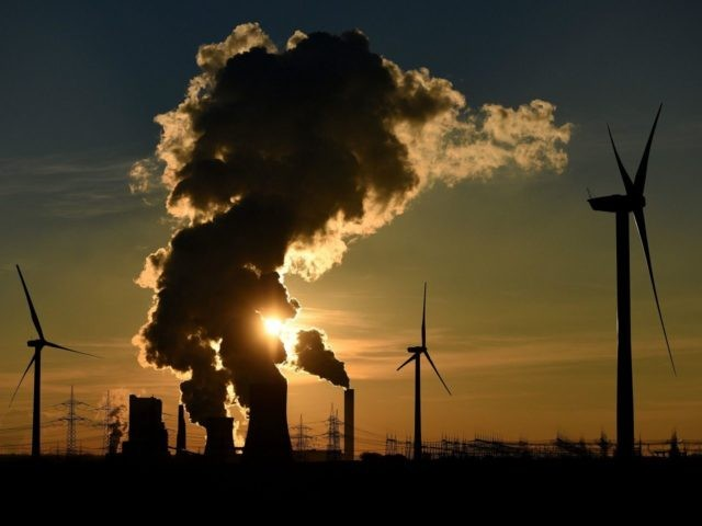 coal power plant / green energy / wind turbine