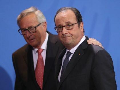 Francois Hollande and Jean-Claude Juncker