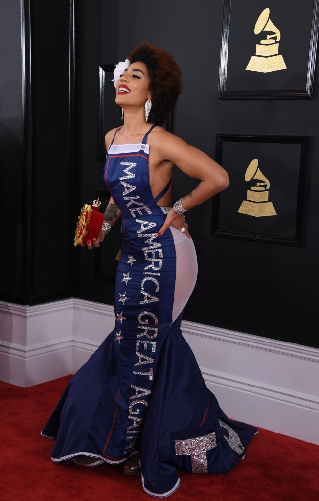 Joy Villa arrives for the 59th Grammy Awards pre-telecast on February 12, 2017, in Los Angeles, California. / AFP / Mark RALSTON (Photo credit should read MARK RALSTON/AFP/Getty Images)
