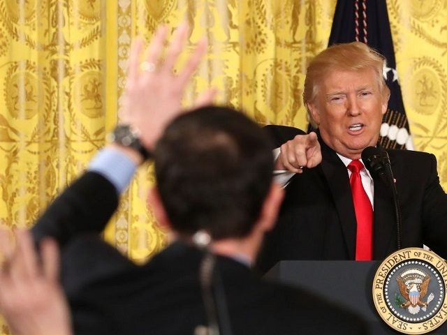 U.S. President Donald Trump speaks during a news conference announcing Alexander Acosta as the new Labor Secretary nominee in the East Room at the White House on February 16, 2017 in Washington, DC. The announcement comes a day after Andrew Puzder withdrew his nomination.
