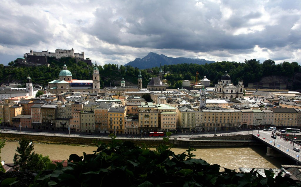 A general view of the Old city of Salzburg taken on June 11, 2008. Salzburg is one of the eight cities hosting the matches of the Euro 2008 football championship from June 7 to 29. AFP PHOTO - DDP / RONNY HARTMANN (Photo credit should read RONNY HARTMANN/AFP/Getty Images)