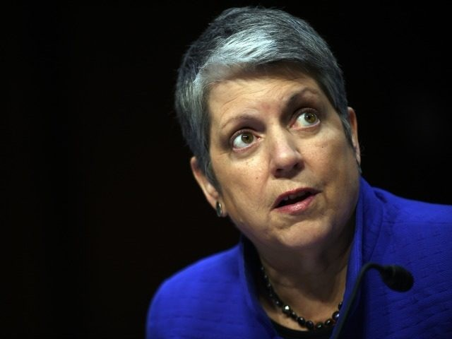 Janet Napolitano, president of the University of California, speaks during a hearing of the Senate Health, Education, Labor, and Pensions Committee on July 29, 2015 in Washington, DC. The committee is examining the reauthorization of the Higher Education Act, focusing on combating campus sexual assault. (Photo by Astrid Riecken/Getty Images)
