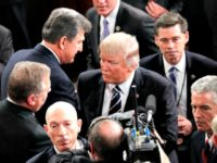 Joe Manchin, Trump After Speech-AP