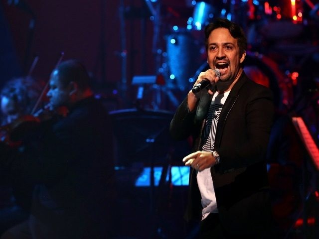 Lin-Manuel Miranda during the Hillary Victory Fund - Stronger Together concert at St. James Theatre on October 17, 2016 in New York City. Broadway stars and celebrities performed during a fundraising concert for the Hillary Clinton campaign.