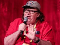 TRAVERSE CITY, MI - JULY 29: Michael Moore speaks to audience members during the screening of I Am Not Your Guru during the Traverse City Film Festival on July 29, 2016 in Traverse City, Michigan. (Photo by Scott Legato/Getty Images for I Am Not Your Guru)