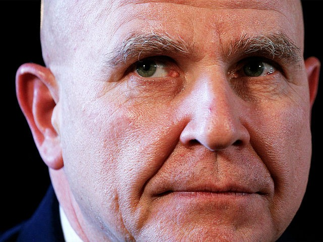 Newly appointed National Security Adviser Army Lt. Gen. H.R. McMaster listens as U.S. President Donald Trump makes the announcement at his Mar-a-Lago estate in Palm Beach, Florida U.S. February 20, 2017. REUTERS/Kevin Lamarque
