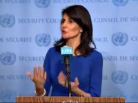 BDS Fail: UN Ambassador Nikki Haley Says 'U.S. Has Israel's Back' Against 'Hateful' Boycott Movement