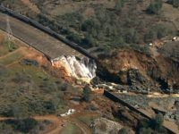Oroville Dam damage (KCRA via Associated Press)