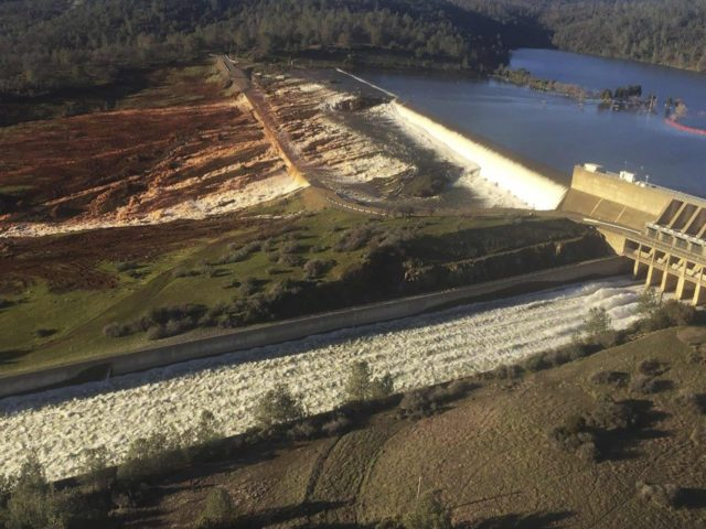 Damaged Dam (Albert Madrid/California Department of Water Resources via AP)