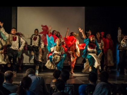 Palestinian children dancing at Yafa Cultural Center in Nablus photo YCC Facebook