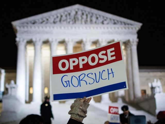 Protest sign oppose Gorsuch (Drew Angerer / Getty)