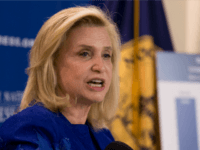 Rep. Carolyn Maloney, D-N.Y. speaks at the National Press Club in Washington. U.S. officials are developing a new, pink commemorative coin to promote breast cancer awareness and raise money for cancer research, said Maloney, who sponsored legislation for its creation. The New York Democrat tells The Associated Press that federal …