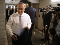Rep. Steve King (R-IA) arrives for a House Republican caucus meeting at the U.S. Capitol October 4, 2013 in Washington, DC. 'This isn't some damn game,' Speaker of the House John Boehner (R-OH) said about the current federal government shutdown. (Photo by Chip Somodevilla/Getty Images)