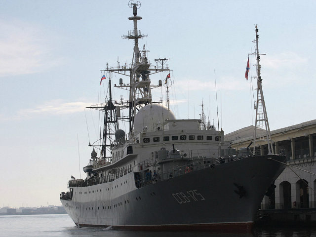 A Russian spy ship Viktor Leonov SSV-175, is seen docked at a Havana port February 27, 2014. REUTERS/Stringer