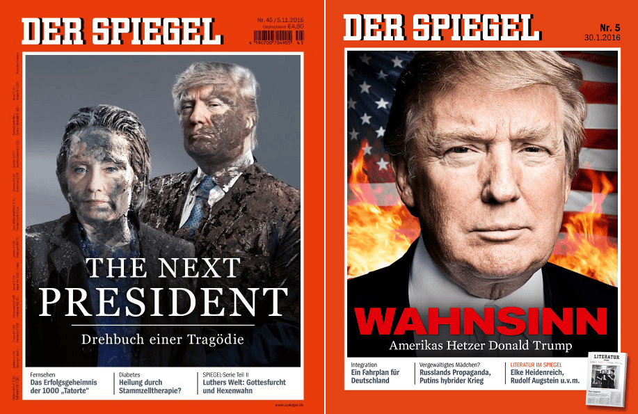 German magazine spiegel portrays trump as islamist for Der spiegel logo