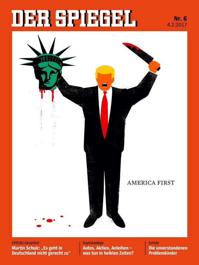 SPIEGEL behead trump 2