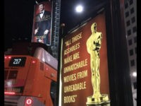 Street Artist Mocks Hollywood 'A**Holes' Unwatchable Movies' with Fake Oscars Posters (Photos)