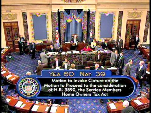 Senate Cloture Vote