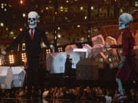 Brit Awards: Katy Perry Uses Skeletons to Mock Donald Trump, Theresa May (Video)