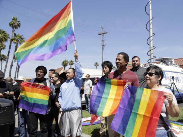 Transgender bathroom rally in California (Nick Ut / Associated Press)