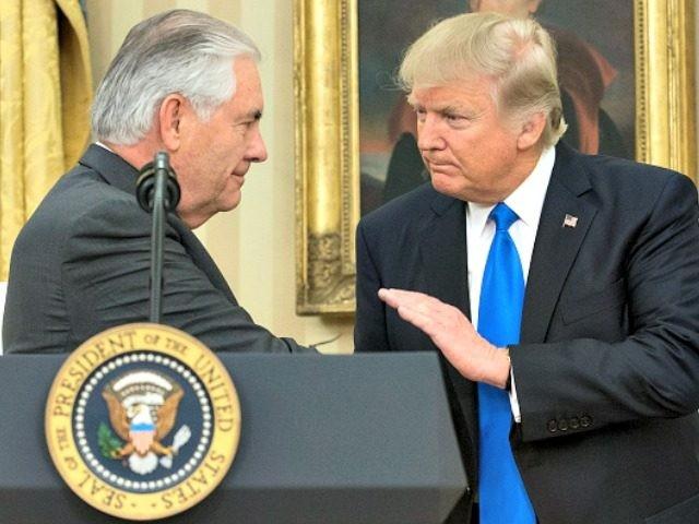 Trump Welcomes Tillerson Getty