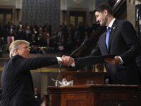 Trump and Ryan in Congress address (Jim Lo Scalzo / Associated Press)