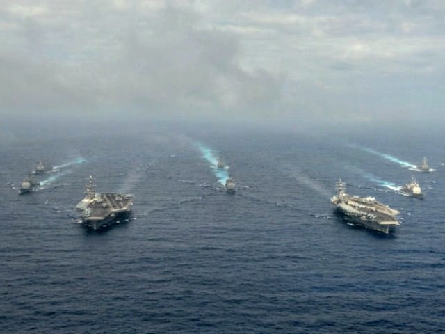 Two-carriers-in-South-China-Sea-US Navy