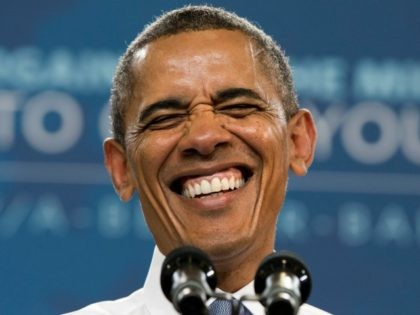 "In this Aug. 6, 2013, file photo. President Barack Obama laughs as the crowd sings him ""Happy Birthday"" at the start of his speech about housing at Desert Vista High School in Phoenix. The man who lives at 1600 Pennsylvania Ave. is more than just another famous face, or the …"
