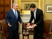 House Speaker Paul Ryan of Wisconsin welcomes Israeli Prime Minister Benjamin Netanyahu in his office on Capitol Hill in Washington, Wednesday, Feb. 15, 2017.   (AP Photo/Manuel Balce Ceneta)
