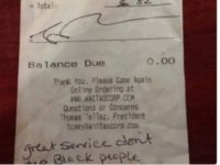Lawyer: Racist Note Given To Black Waitress is Fake