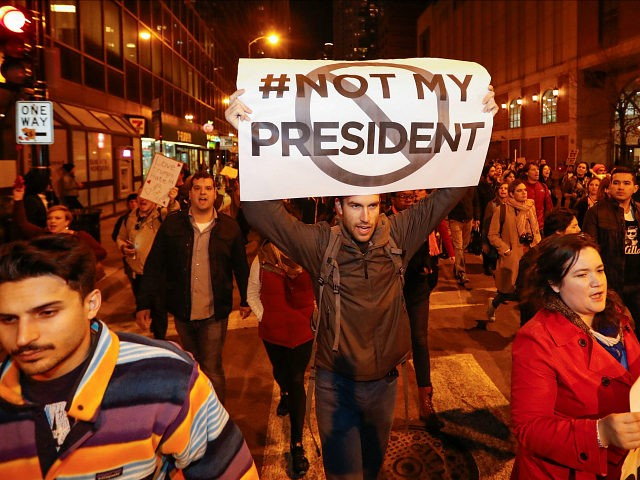 A protest against Donald Trump in Chicago. REUTERS/Kamil Krzacznski
