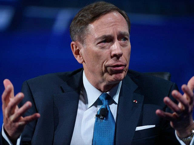 NEW YORK, NY - SEPTEMBER 19: Former Director, Central Intelligence Agency Gen. (Ret.) David H. Petraeus speaks on stage at 2016 Concordia Summit - Day 1 at Grand Hyatt New York on September 19, 2016 in New York City. (Photo by Riccardo Savi/Getty Images for Concordia Summit)