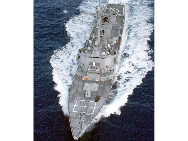 In this US Navy hand out obtained on February 29, 2008, the guided missile destroyer USS Cole is seen at sea off the coast of the Commonwealth of Puerto Rico in this August 9, 2002 file photo. The United States announced on February 28, 2008, it had sent the USS Cole guided-missile destroyer to the waters off Lebanon, which has been embroiled in a paralysing political crisis for months. AFP PHOTO/ HO-U.S. Navy photo by Photographer?s Mate 2nd Class James Elliott (Photo credit should read PH2 James Elliott/AFP/Getty Images)