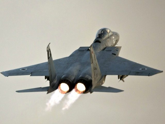 An Israeli F-15 Eagle fighter jet takes off from an Israeli Air Force Base on November 19, 2012. European Union foreign ministers called for an 'immediate' halt to hostilities between Gaza and Israel as a new strike in a sixth day of violence pushed the toll in Gaza to over …